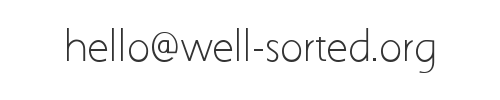 hello <at> well-sorted.org